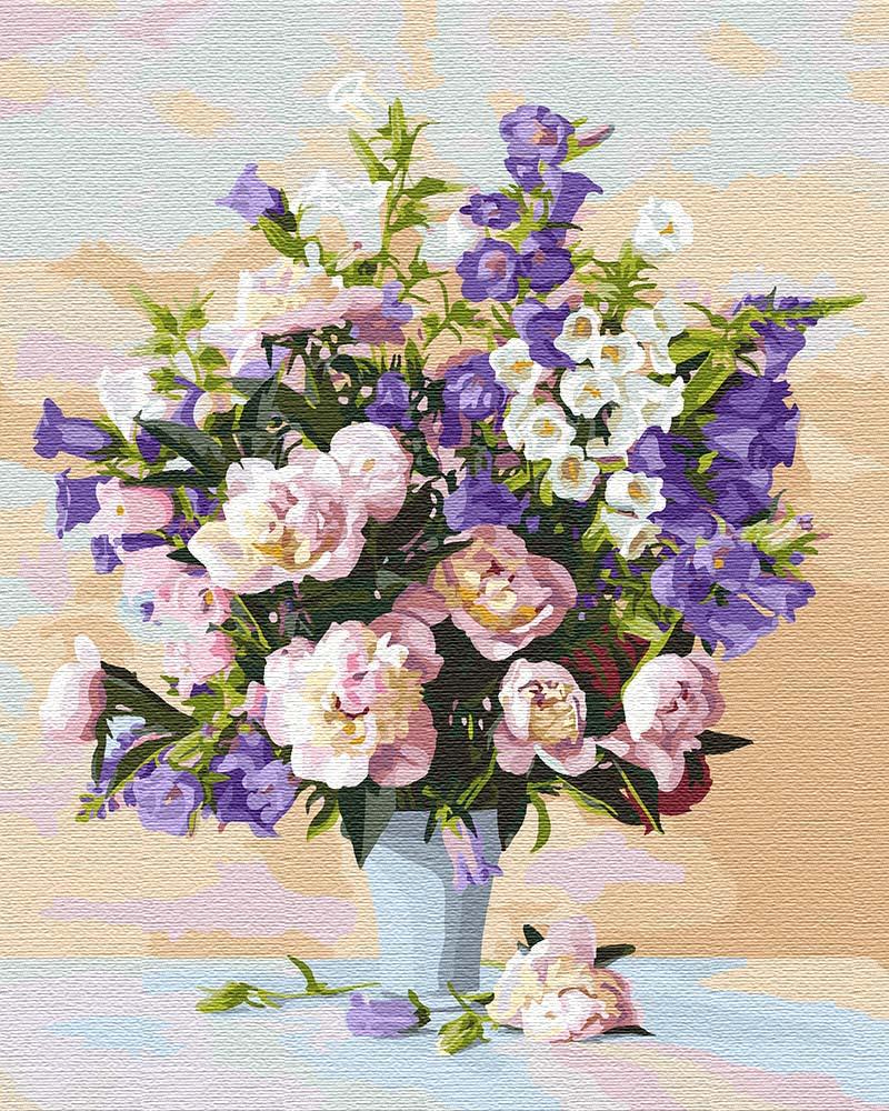 модные картины по номерам с цветами
