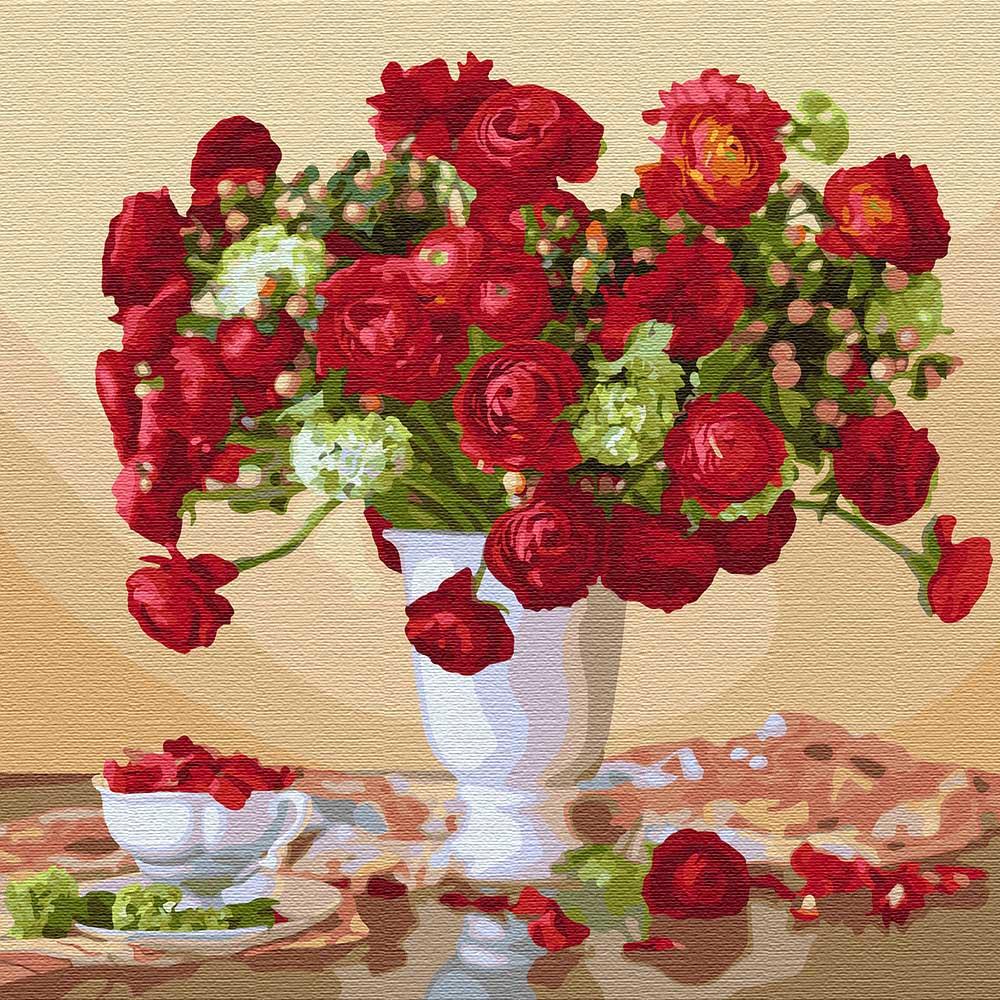 картины по номерам Идейка красные розы