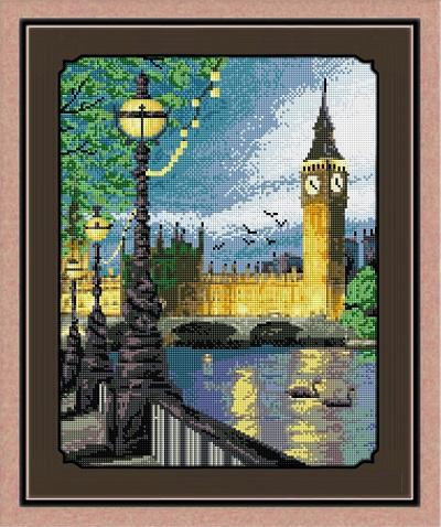 картина из страз лондон