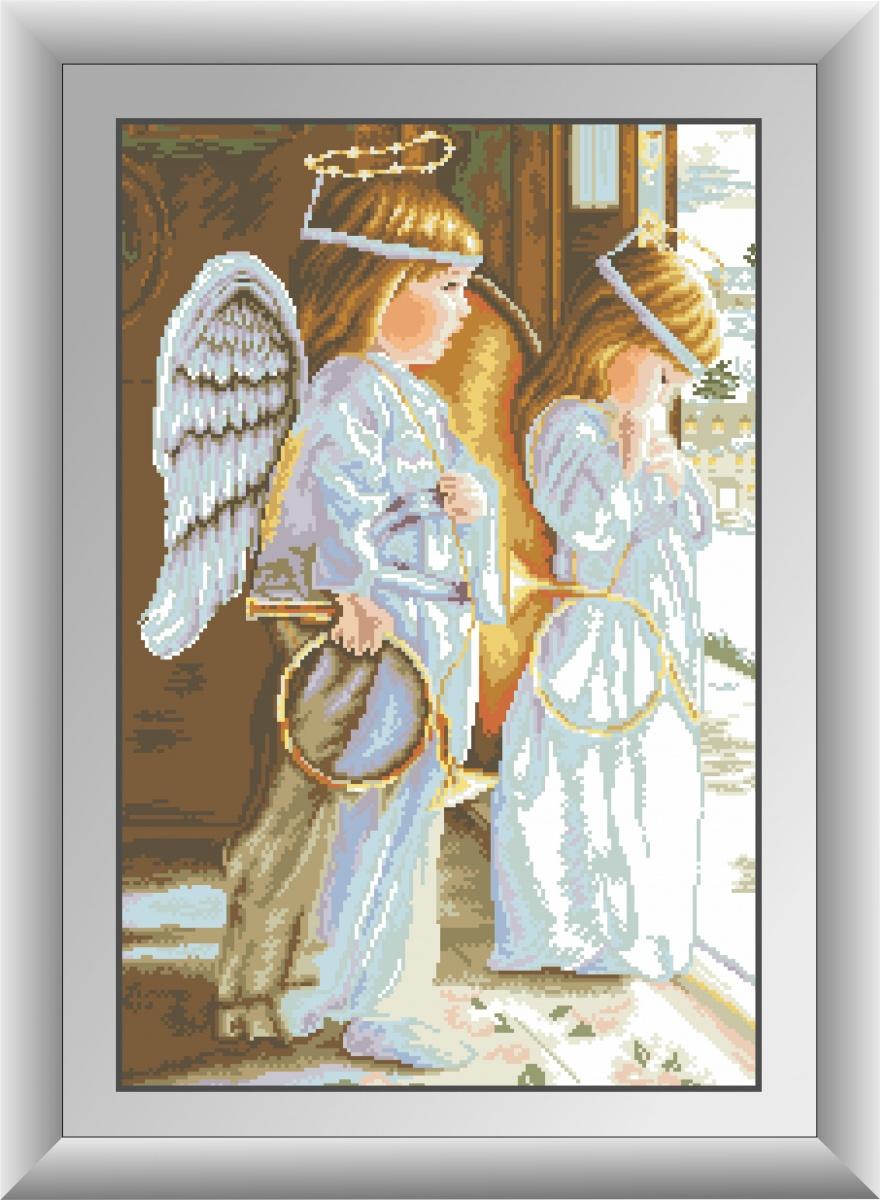 картина из мозаики ангел