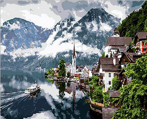 Картина по номерам горы