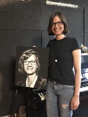 картина по номерам по фото нарисованный портрет